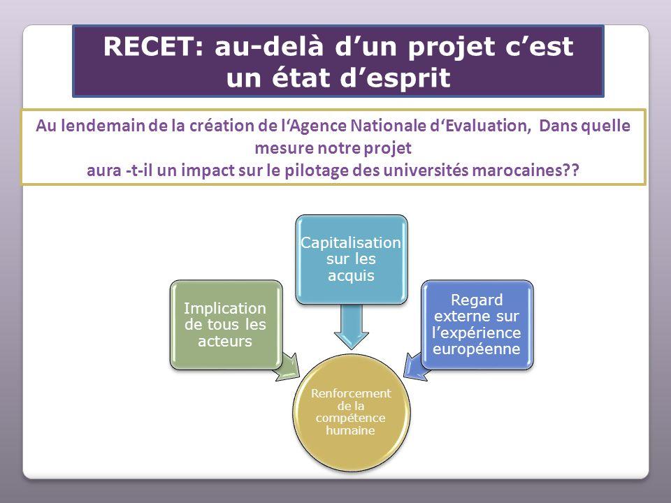 RECET: au-delà d'un projet c'est un état d'esprit