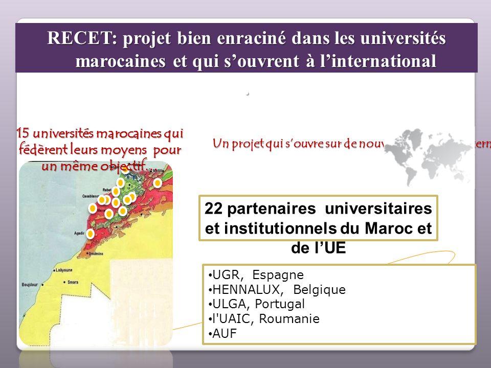22 partenaires universitaires et institutionnels du Maroc et de l'UE