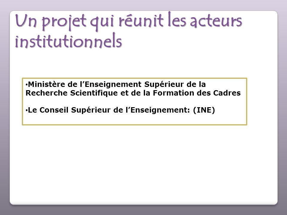 Un projet qui réunit les acteurs institutionnels