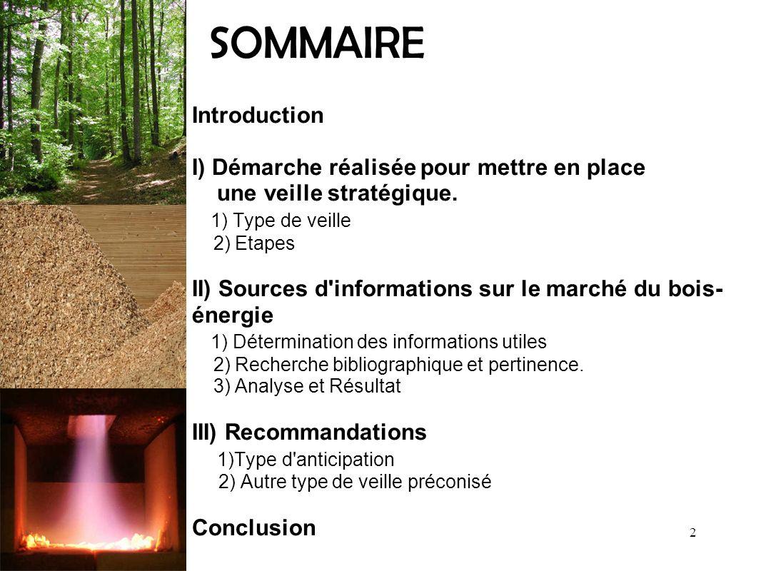 SOMMAIRE Introduction I) Démarche réalisée pour mettre en place