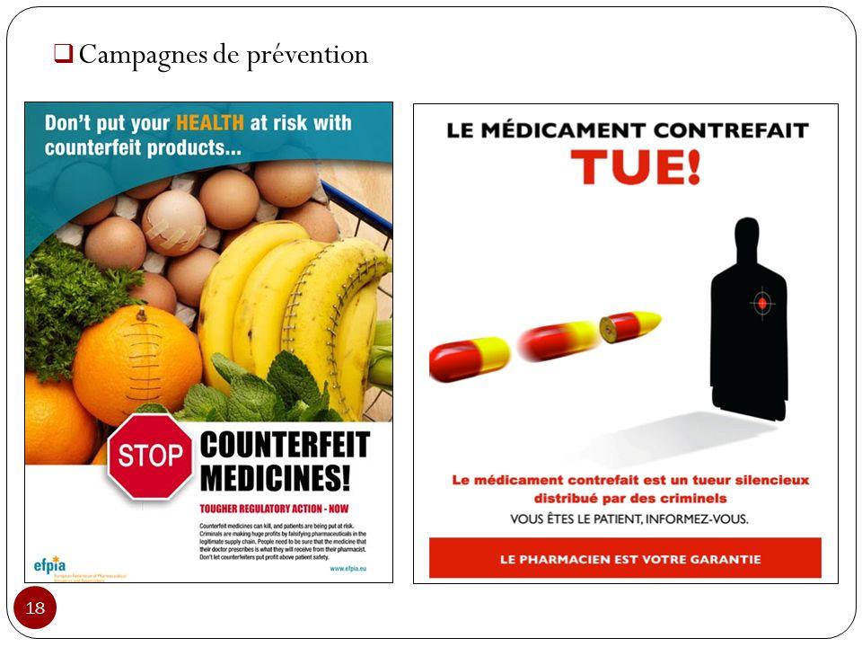 Campagnes de prévention