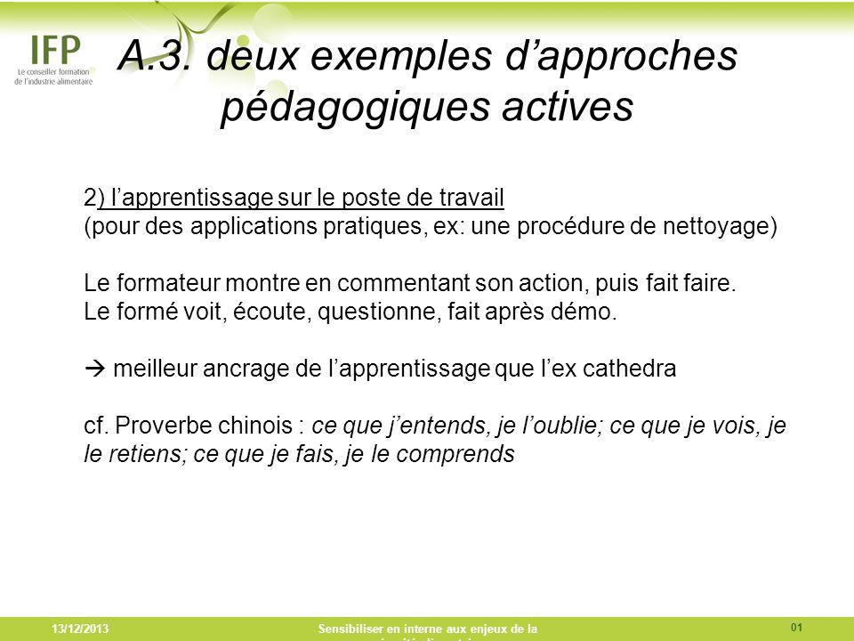 A.3. deux exemples d'approches pédagogiques actives