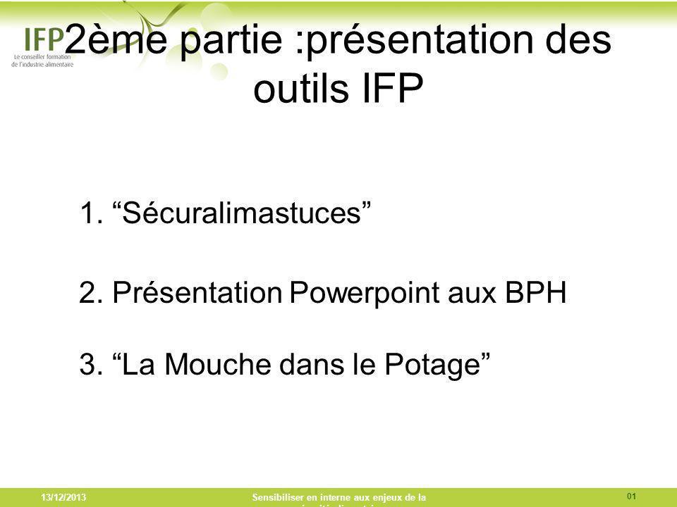 2ème partie :présentation des outils IFP