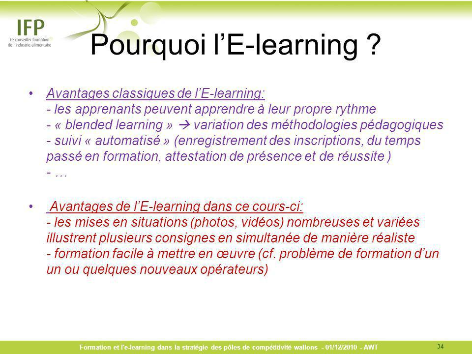 Pourquoi l'E-learning