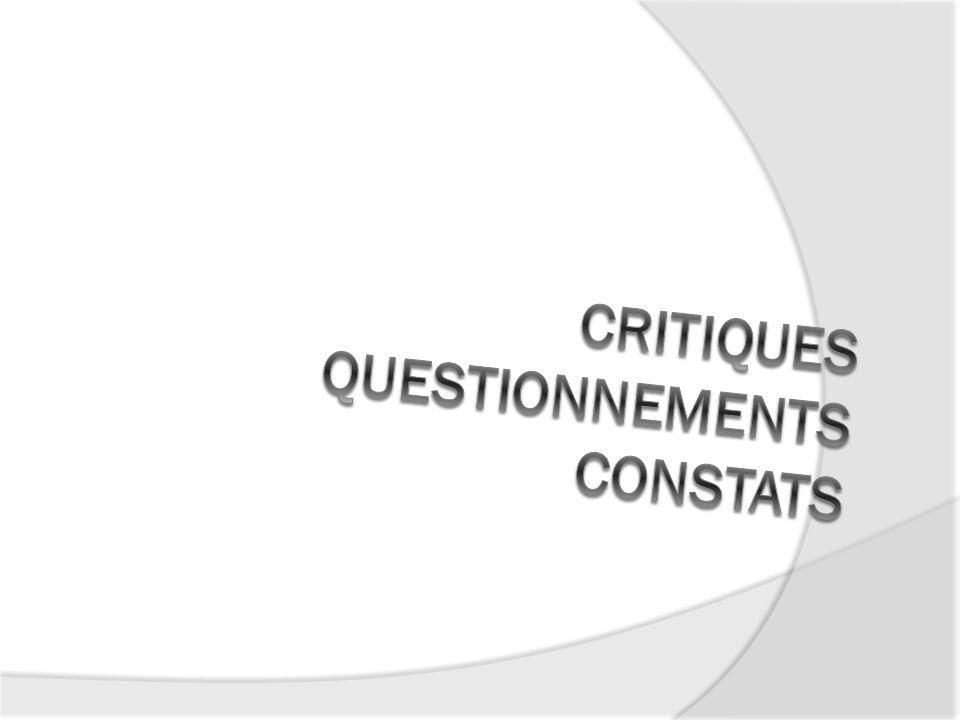Critiques Questionnements Constats