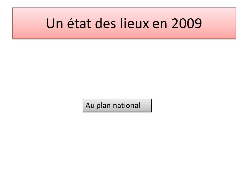 Un état des lieux en 2009 Au plan national 3