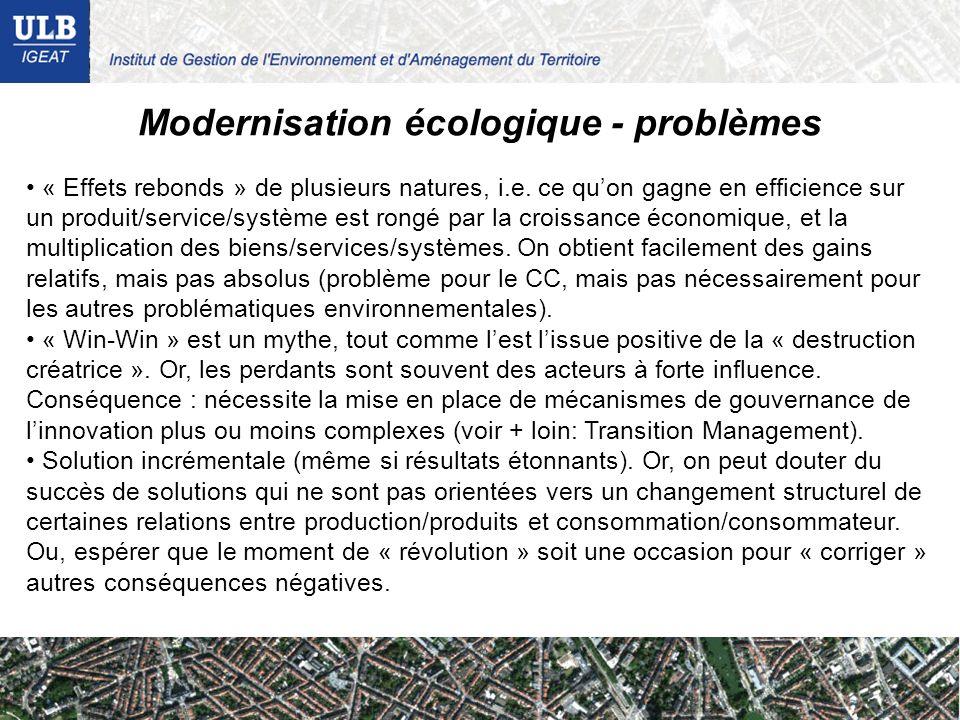 Modernisation écologique - problèmes