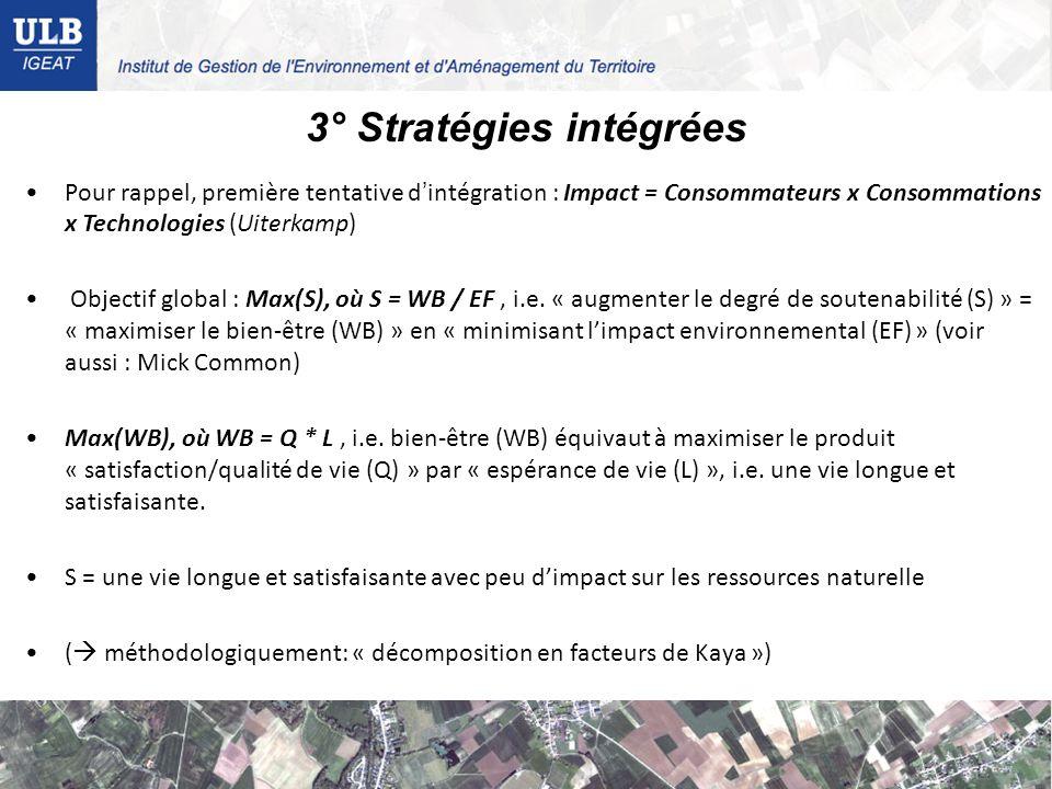 3° Stratégies intégrées