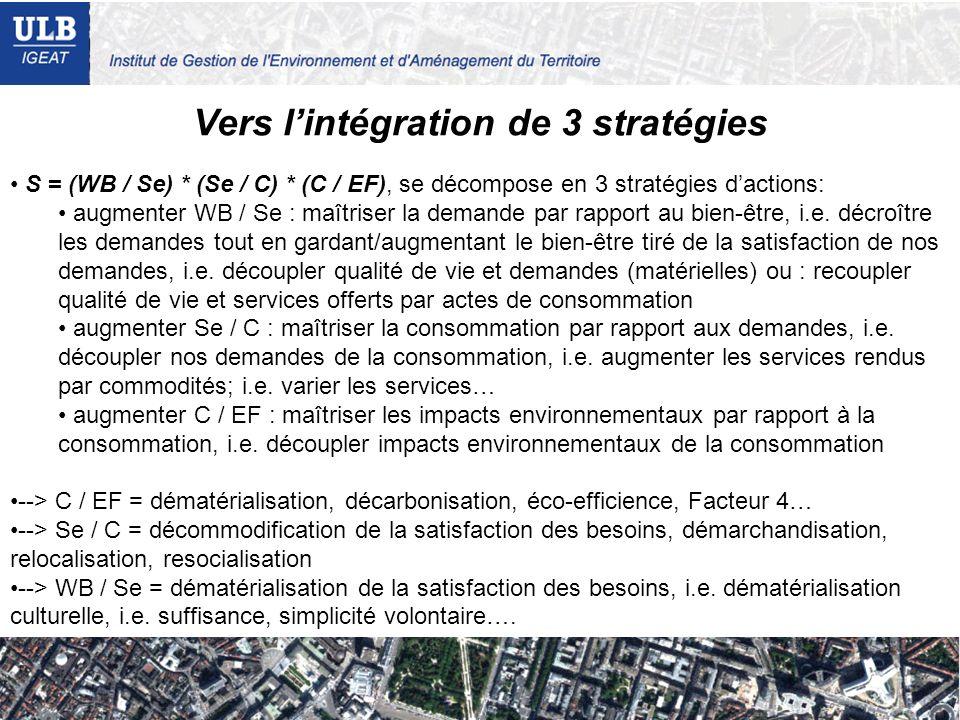 Vers l'intégration de 3 stratégies