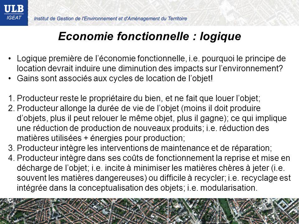 Economie fonctionnelle : logique