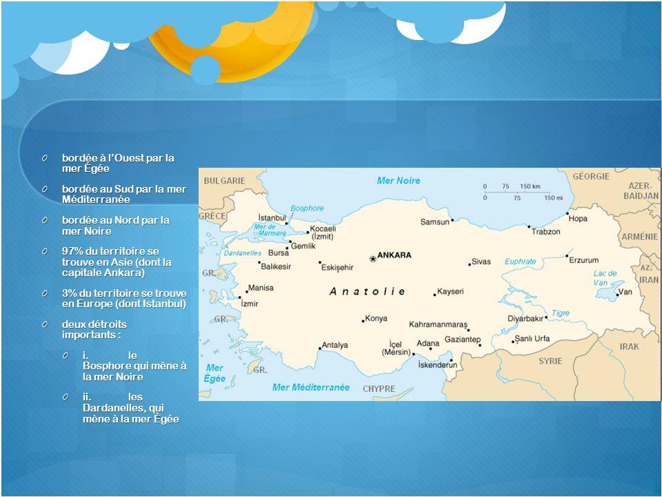 bordée à l'Ouest par la mer Égée