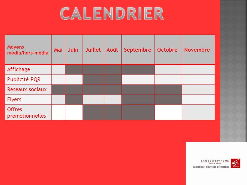 CALENDRIER Mai Juin Juillet Août Septembre Octobre Novembre Affichage