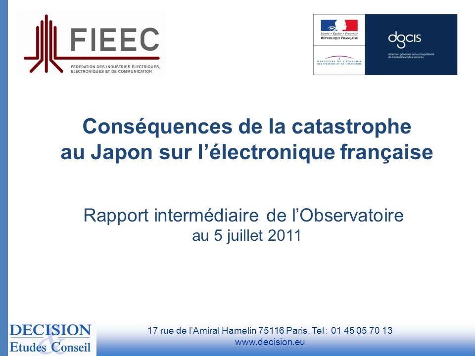 Conséquences de la catastrophe au Japon sur l'électronique française