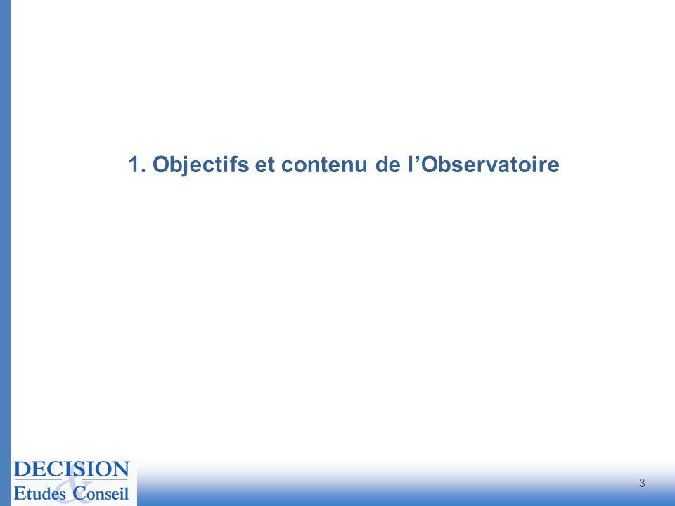1. Objectifs et contenu de l'Observatoire