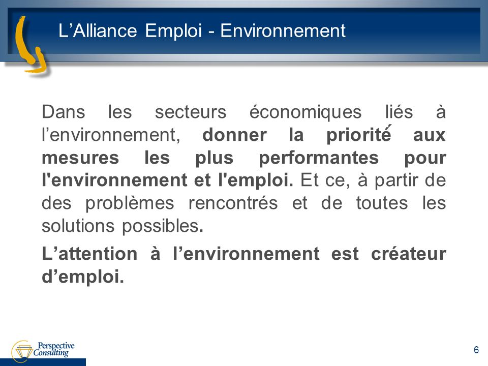 L'Alliance Emploi - Environnement