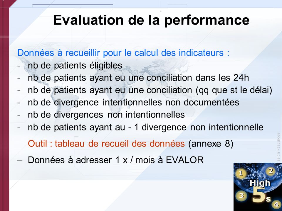 Evaluation de la performance