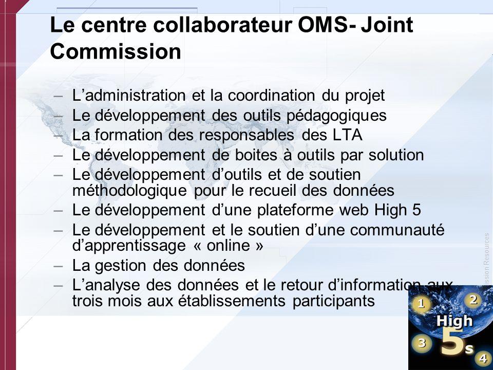 Le centre collaborateur OMS- Joint Commission