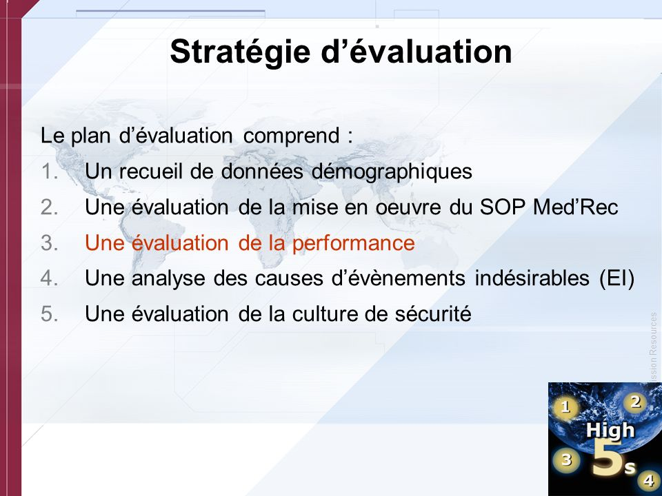 Stratégie d'évaluation