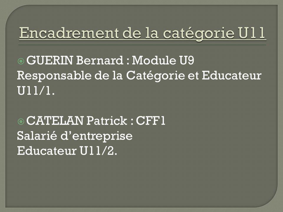 Encadrement de la catégorie U11