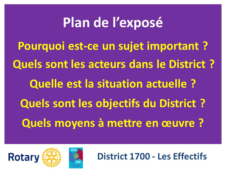 District 1700 - Les Effectifs