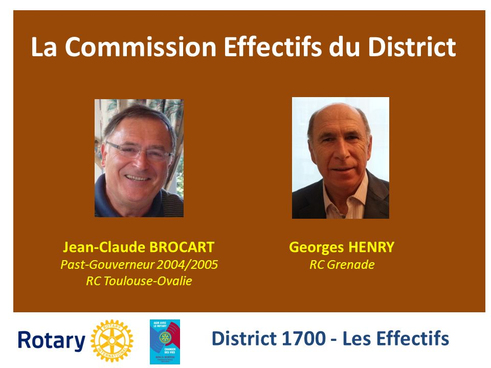 La Commission Effectifs du District District 1700 - Les Effectifs
