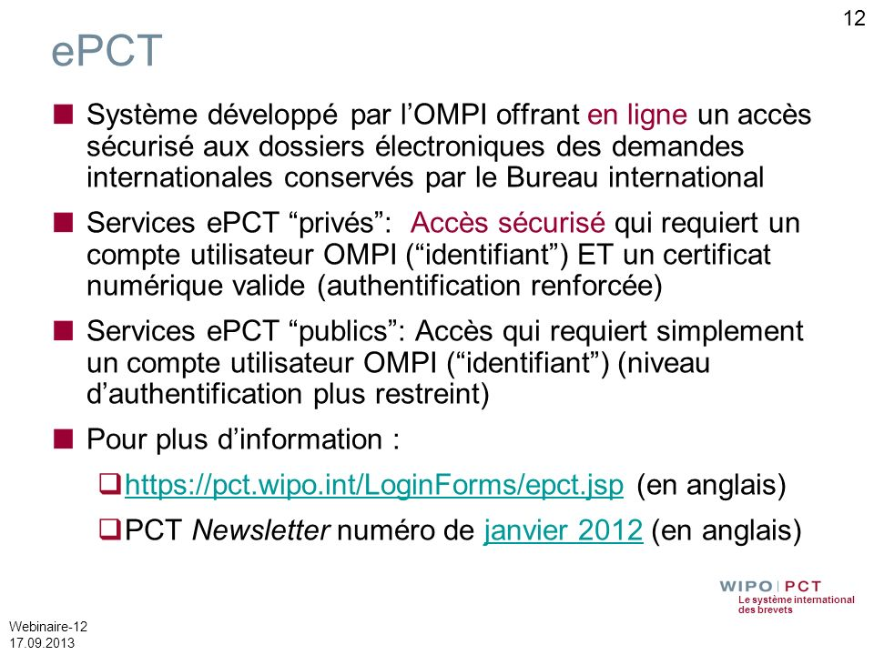 12 ePCT.