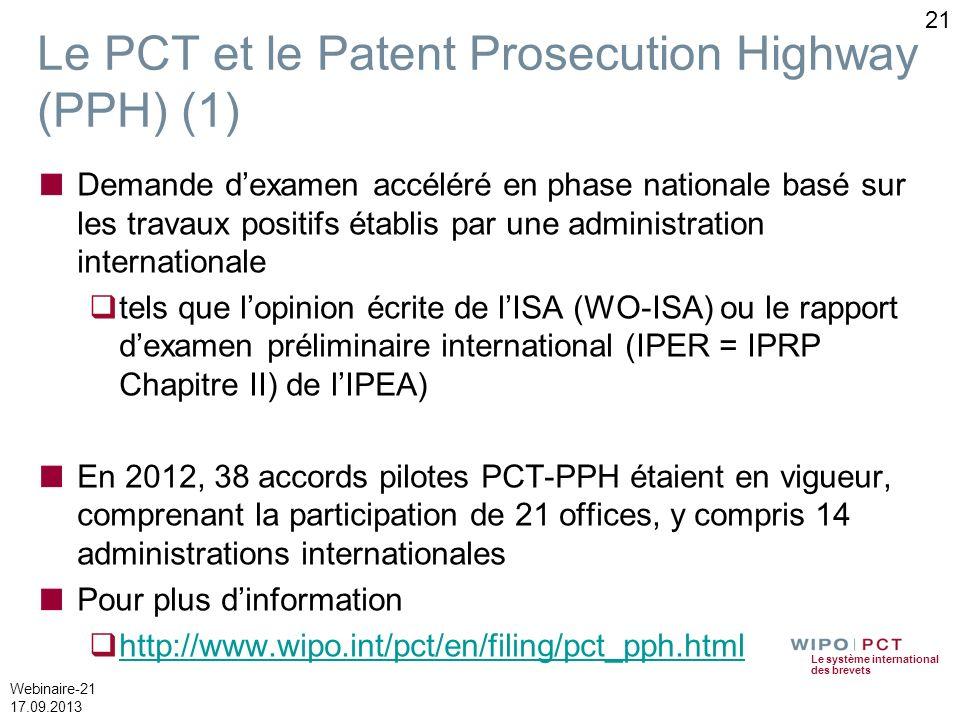 Le PCT et le Patent Prosecution Highway (PPH) (1)