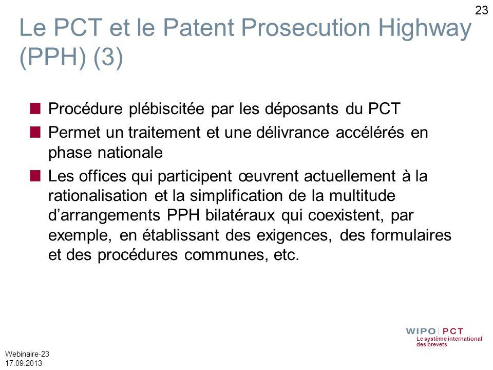 Le PCT et le Patent Prosecution Highway (PPH) (3)