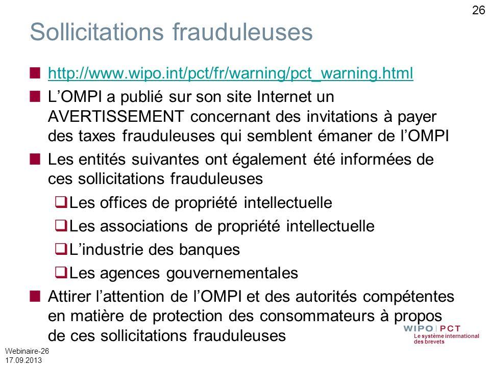 Sollicitations frauduleuses