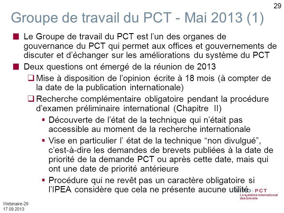 Groupe de travail du PCT - Mai 2013 (1)