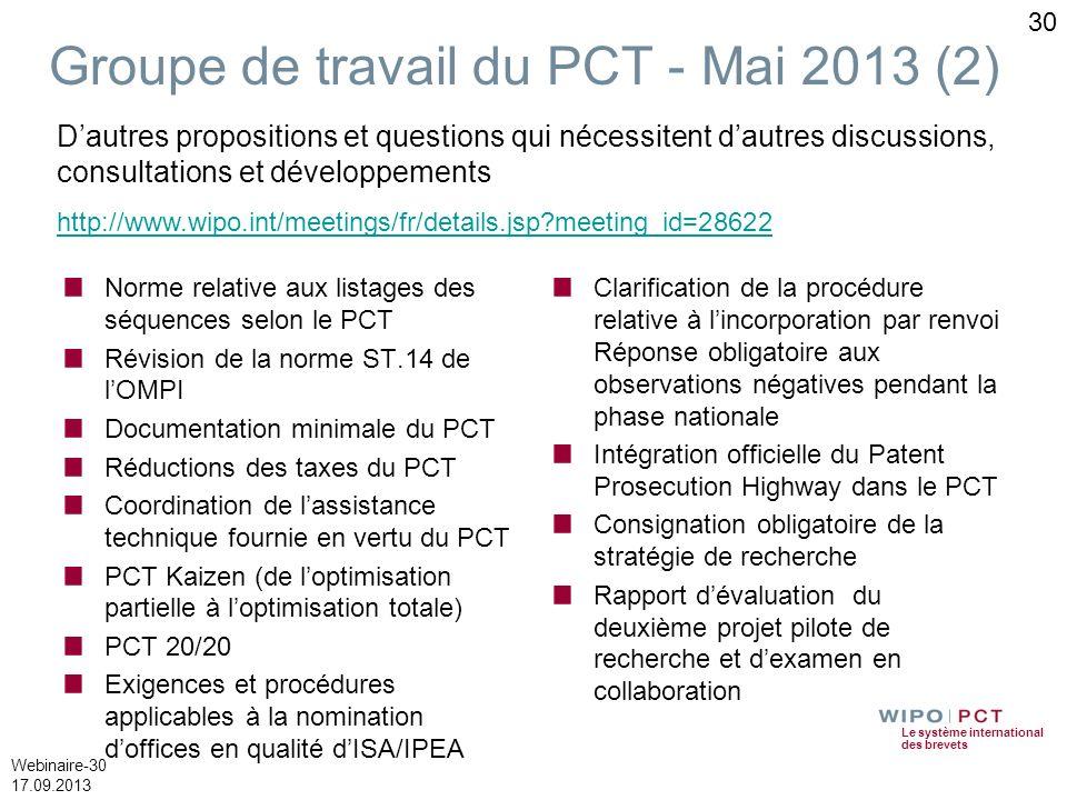 Groupe de travail du PCT - Mai 2013 (2)