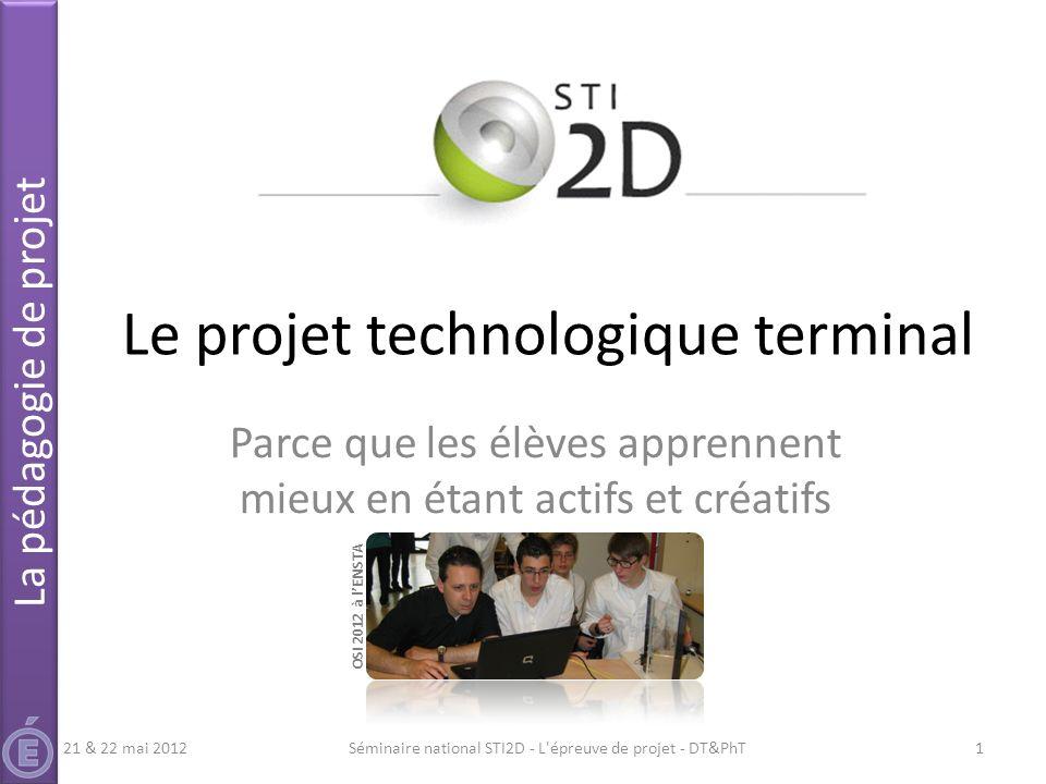 Le projet technologique terminal