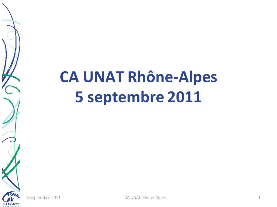 CA UNAT Rhône-Alpes 5 septembre 2011