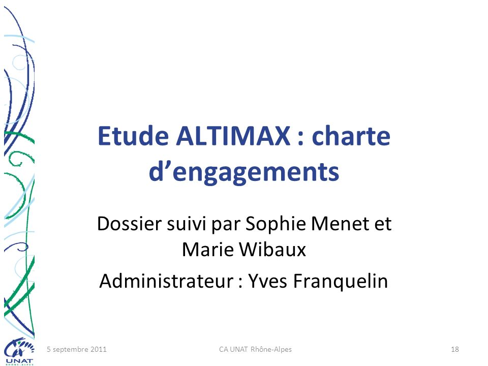 Etude ALTIMAX : charte d'engagements