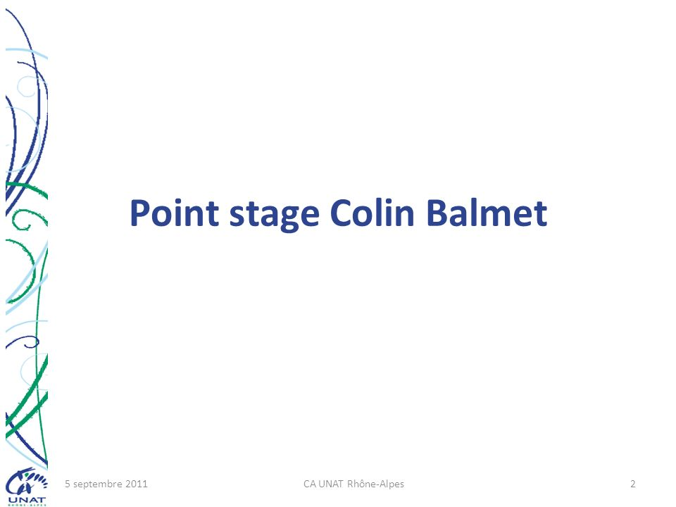 Point stage Colin Balmet