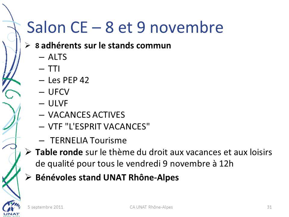 Salon CE – 8 et 9 novembre ALTS TTI Les PEP 42 UFCV ULVF