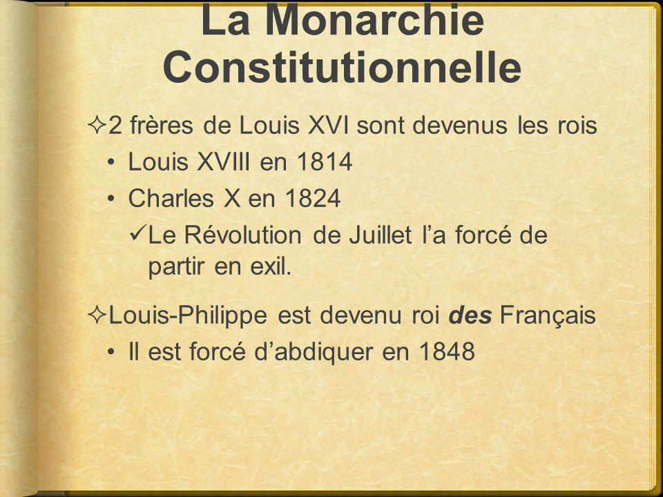 La Monarchie Constitutionnelle