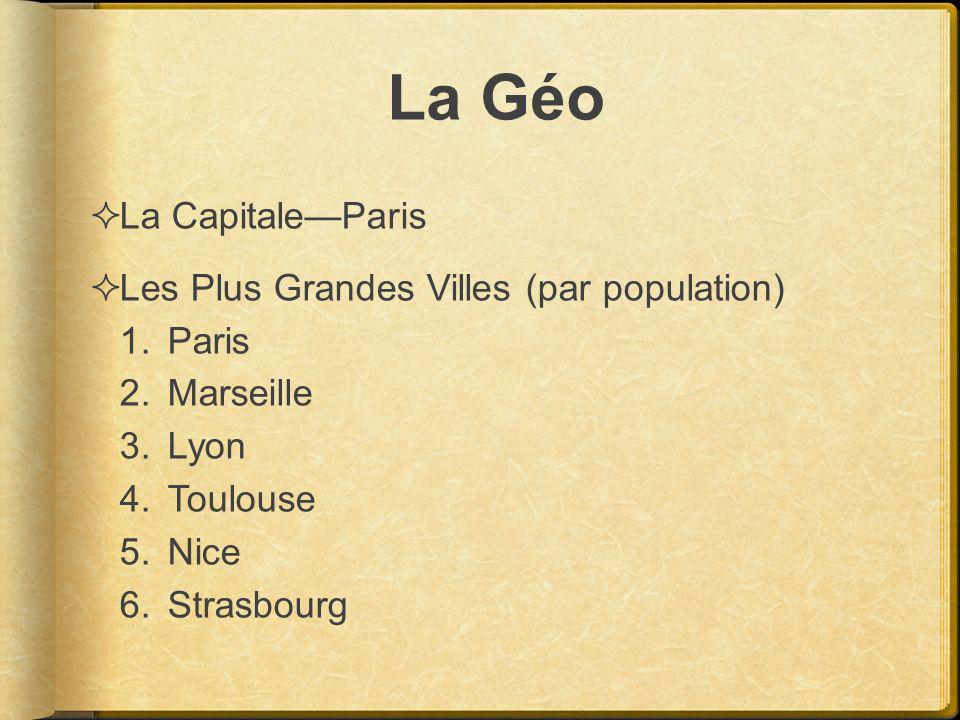 La Géo La Capitale—Paris Les Plus Grandes Villes (par population)