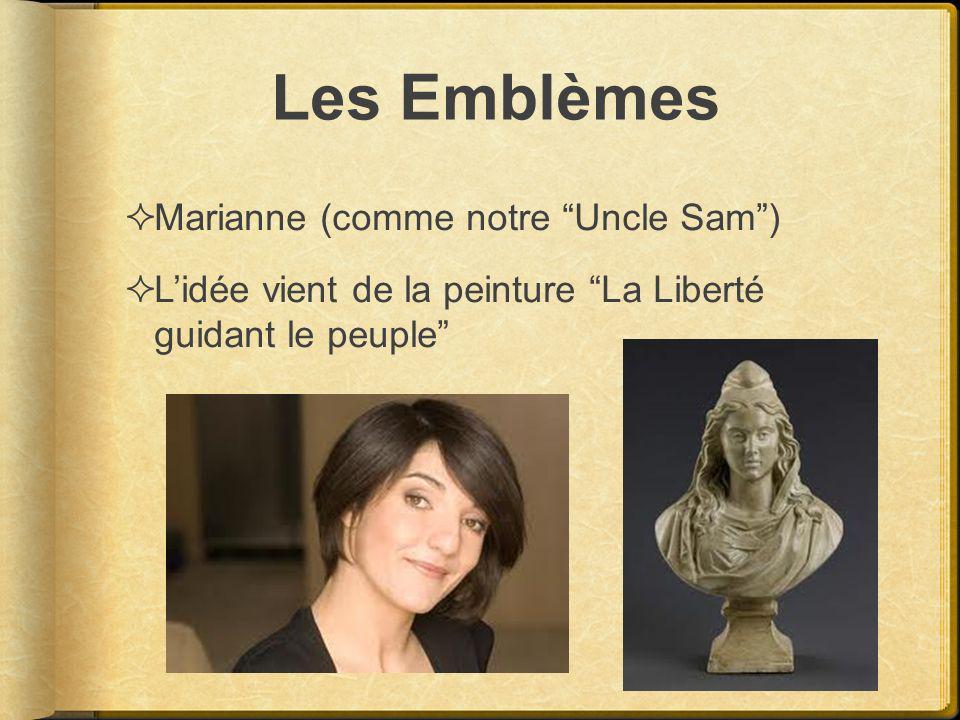Les Emblèmes Marianne (comme notre Uncle Sam )