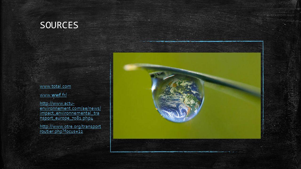 SOURCES www.total.com www.wwf.fr/