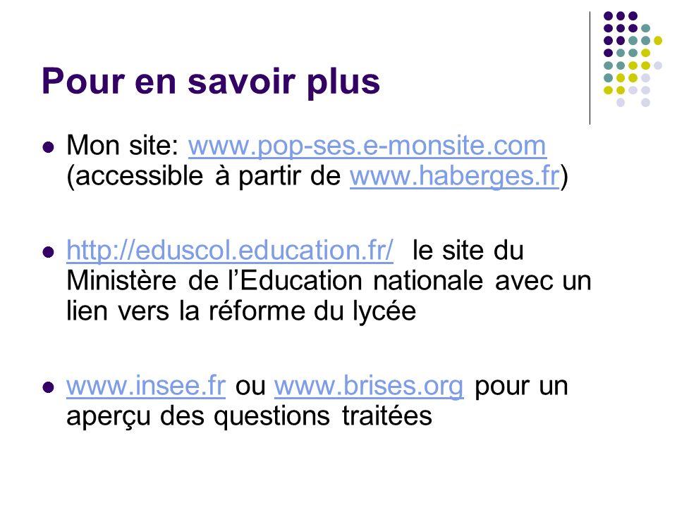 Pour en savoir plus Mon site: www.pop-ses.e-monsite.com (accessible à partir de www.haberges.fr)