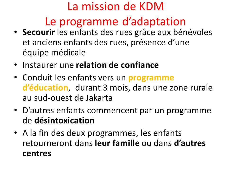 La mission de KDM Le programme d'adaptation