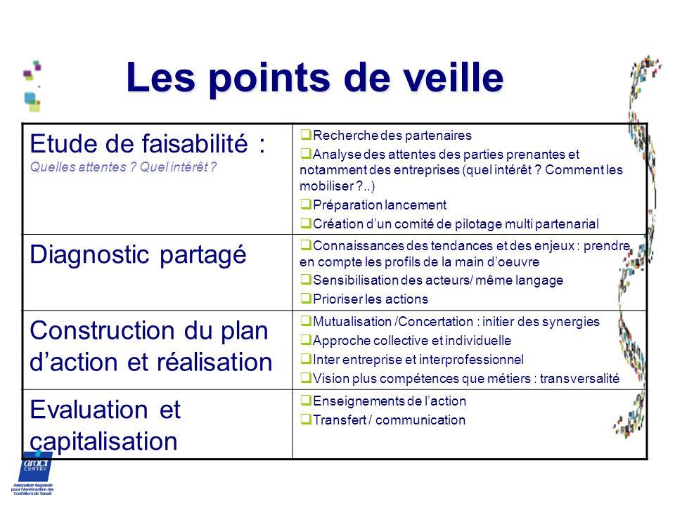 Les points de veille Etude de faisabilité : Quelles attentes Quel intérêt Recherche des partenaires.