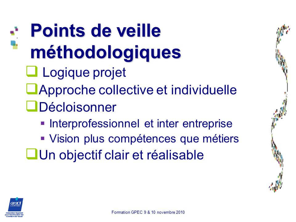 Points de veille méthodologiques