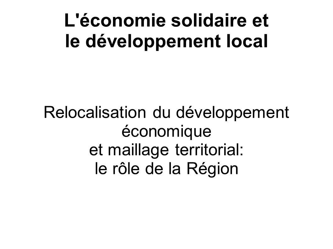 L économie solidaire et le développement local