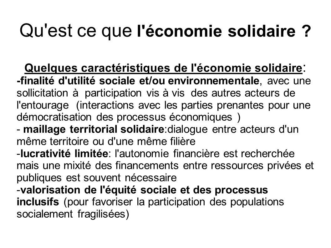 Qu est ce que l économie solidaire