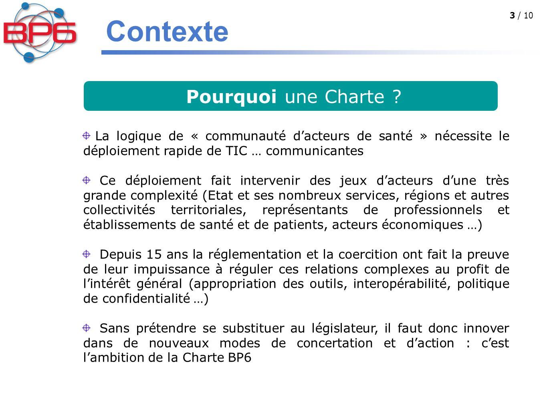 Contexte Pourquoi une Charte
