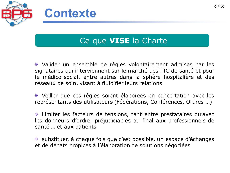 Contexte Ce que VISE la Charte