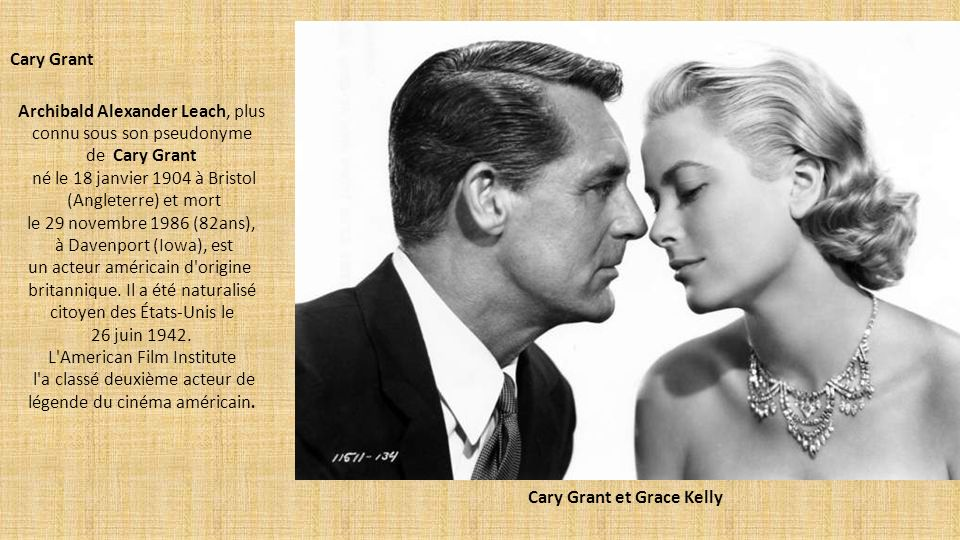 Cary Grant et Grace Kelly
