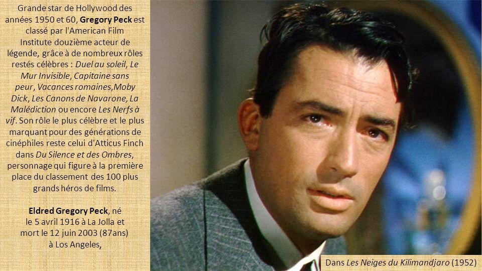 Eldred Gregory Peck, né le 5 avril 1916 à La Jolla et
